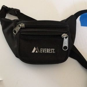 Like New Black Mini Fanny Pack 2 Pockets